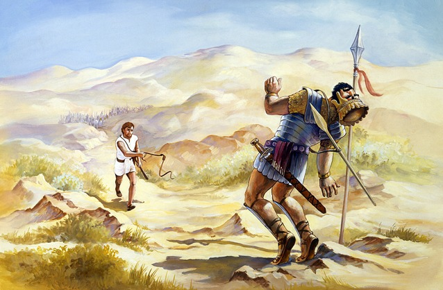 a comparison of the leaders arthur becomes king and david and goliath